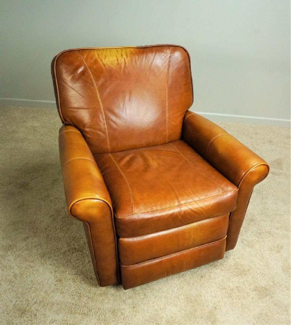 1970'S BROWN LEATHER RECLINER