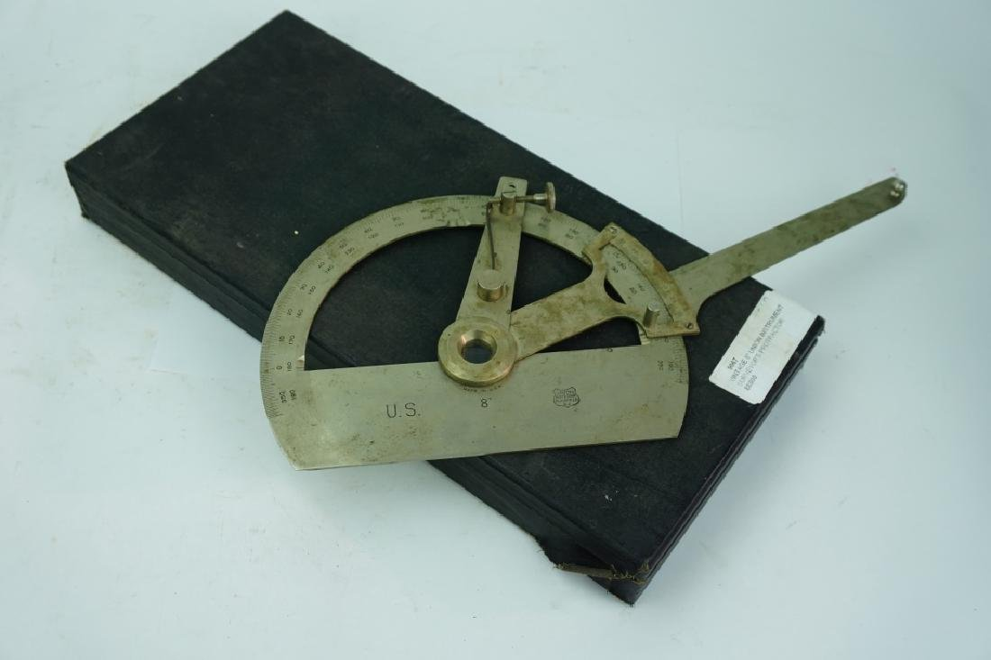 VINTAGE 8'' UNION INSTRUMENT SURVEYOR'S PROTRACTOR