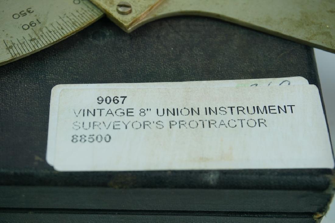 VINTAGE 8'' UNION INSTRUMENT SURVEYOR'S PROTRACTOR - 4