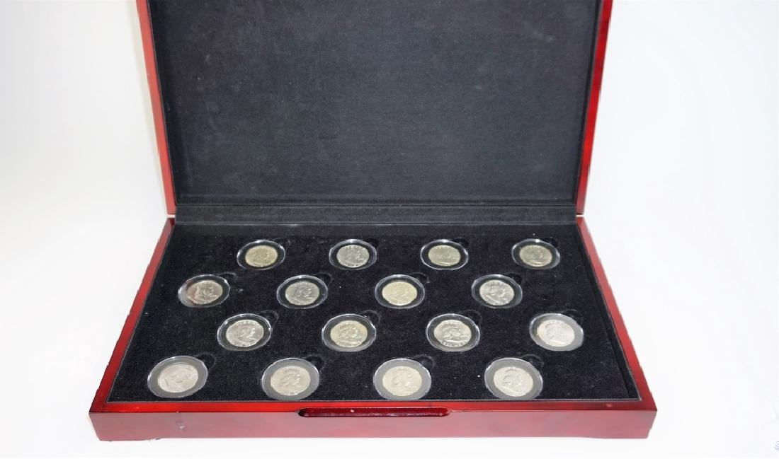 16pc COMPLETE FRANKLIN HALF DOLLAR SET 1948-963
