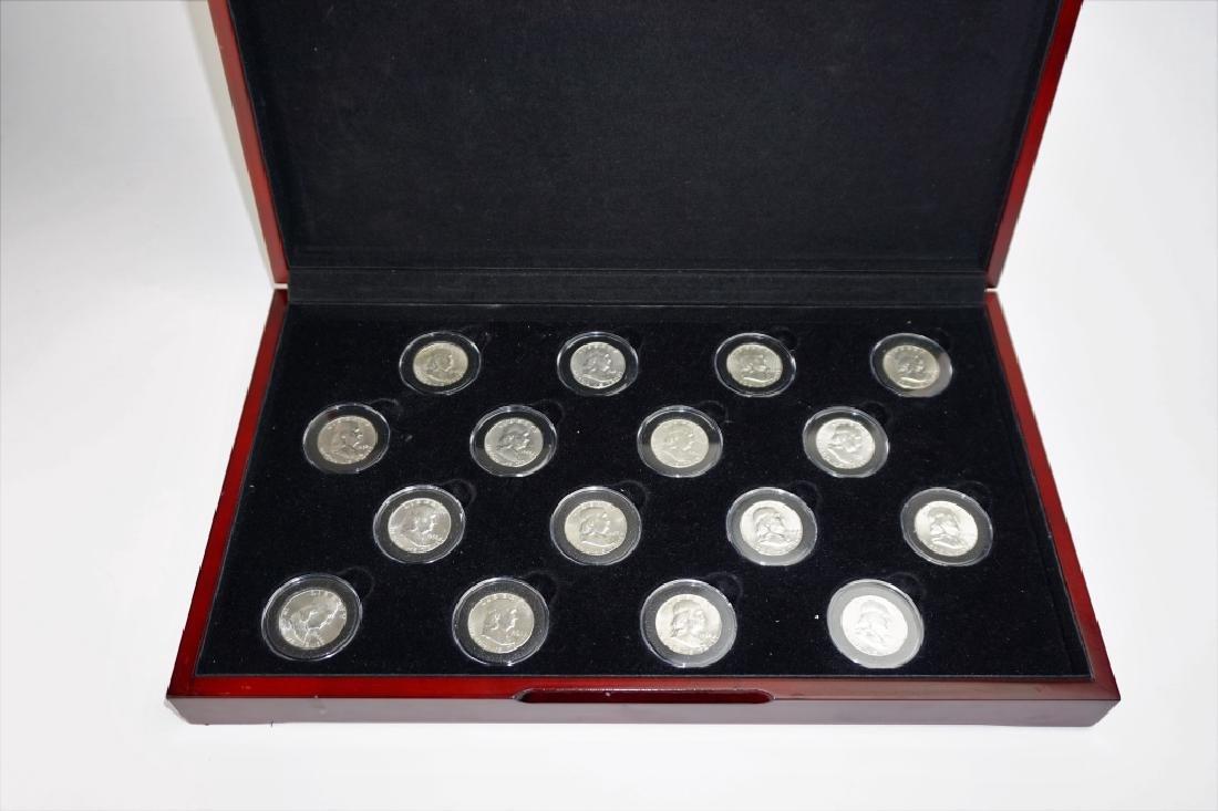 16pc COMPLETE FRANKLIN HALF DOLLAR SET 1948-963 - 2