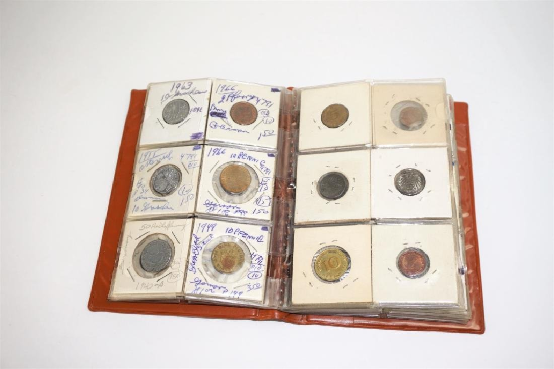 53 GERMAN COINS IN COIN STOCK BOOK