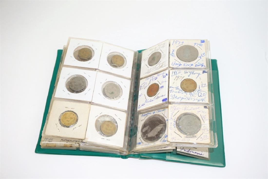 44 ASSORTED FOREIGN COINS IN COIN STOCK BOOK - 4