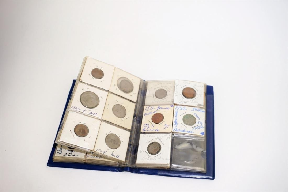 46 ASSORTED FOREIGN COINS IN COIN STOCK BOOK - 4