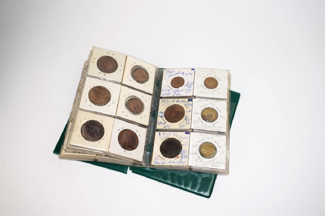 55 ASSORTED GREAT BRITAIN COINS IN COIN STOCK BOOK - 2