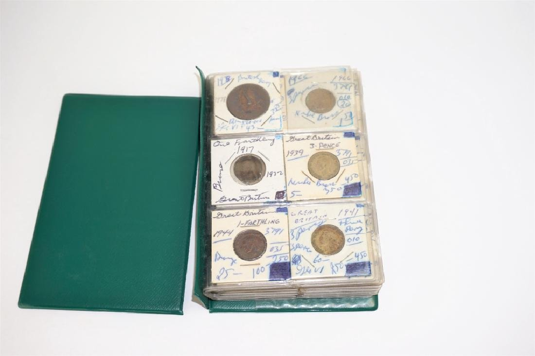 55 ASSORTED GREAT BRITAIN COINS IN COIN STOCK BOOK - 3