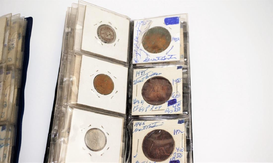 63 ASSORTED GREAT BRITAIN COINS IN COIN STOCK BOOK - 5
