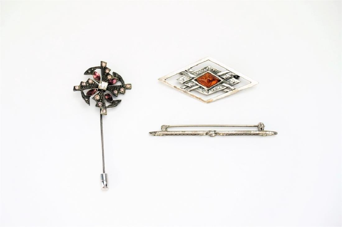 (3) ASSORTED STERLING SILVER PINS