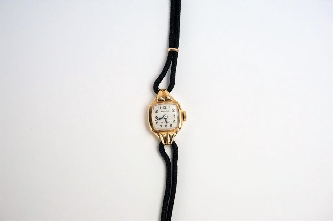 14K GOLD SWISS LADIES WRIST WATCH - 3