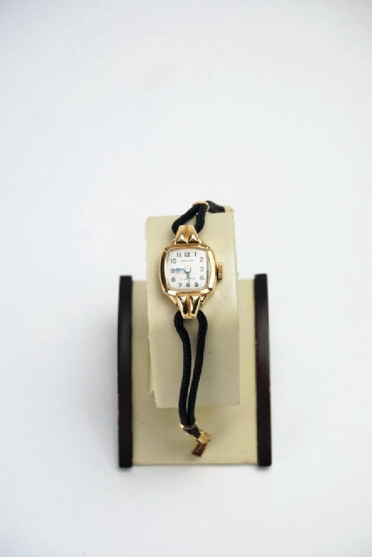 14K GOLD SWISS LADIES WRIST WATCH - 4