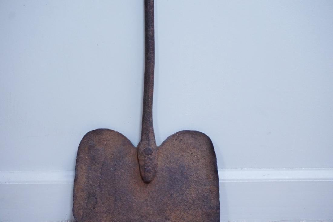 ANTIQUE FORGED IRON COOKING PEEL - 5