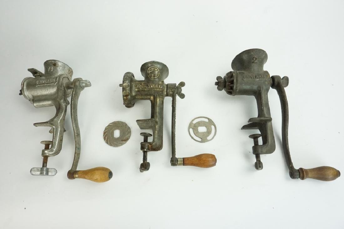 (3) ASSORTED MEAT GRINDERS