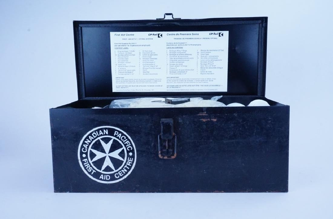 VINTAGE CANADIAN PACIFIC RAILROAD FIRST AID KIT - 2