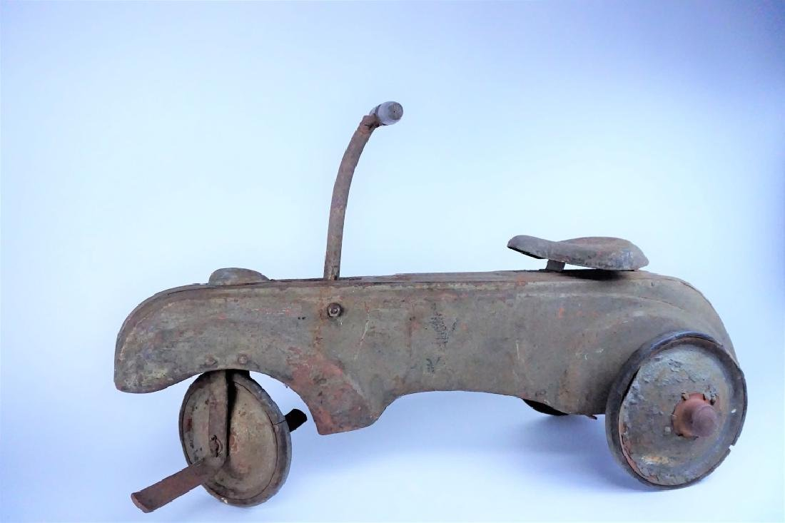 VINTAGE FRICTION POWERED PEDAL CAR - 2