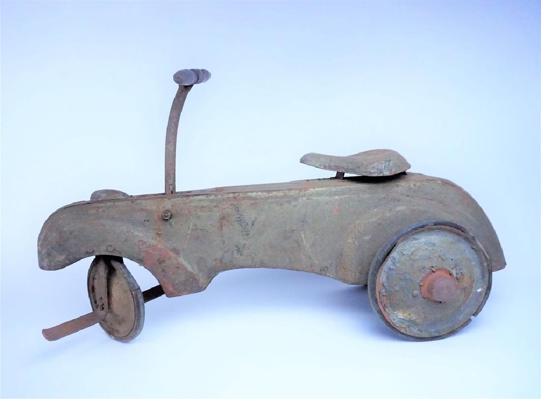 VINTAGE FRICTION POWERED PEDAL CAR - 3