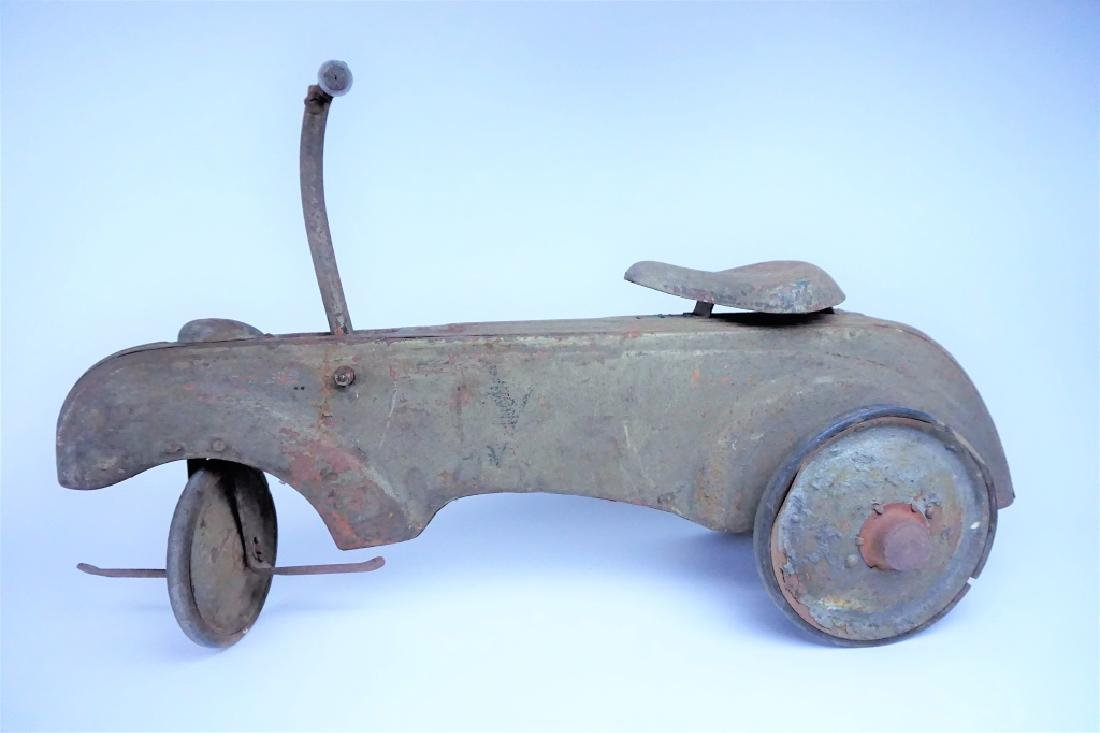 VINTAGE FRICTION POWERED PEDAL CAR - 5