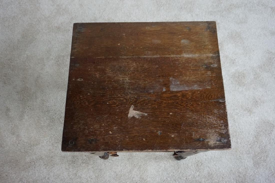 ANTIQUE WOODEN 2-DRAWER STAND - 4
