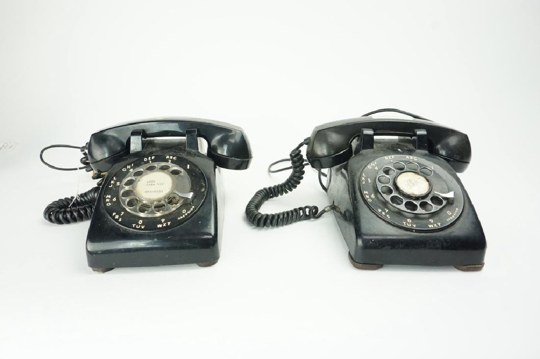 (2) ASSORTED ROTARY TELEPHONES