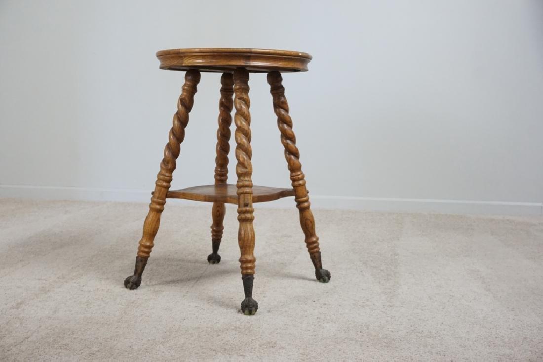 OAK PARLOR TABLE WITH BARLEY TWIST LEGS - 2