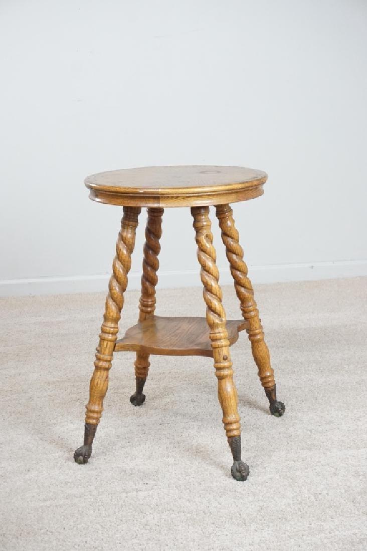OAK PARLOR TABLE WITH BARLEY TWIST LEGS - 6