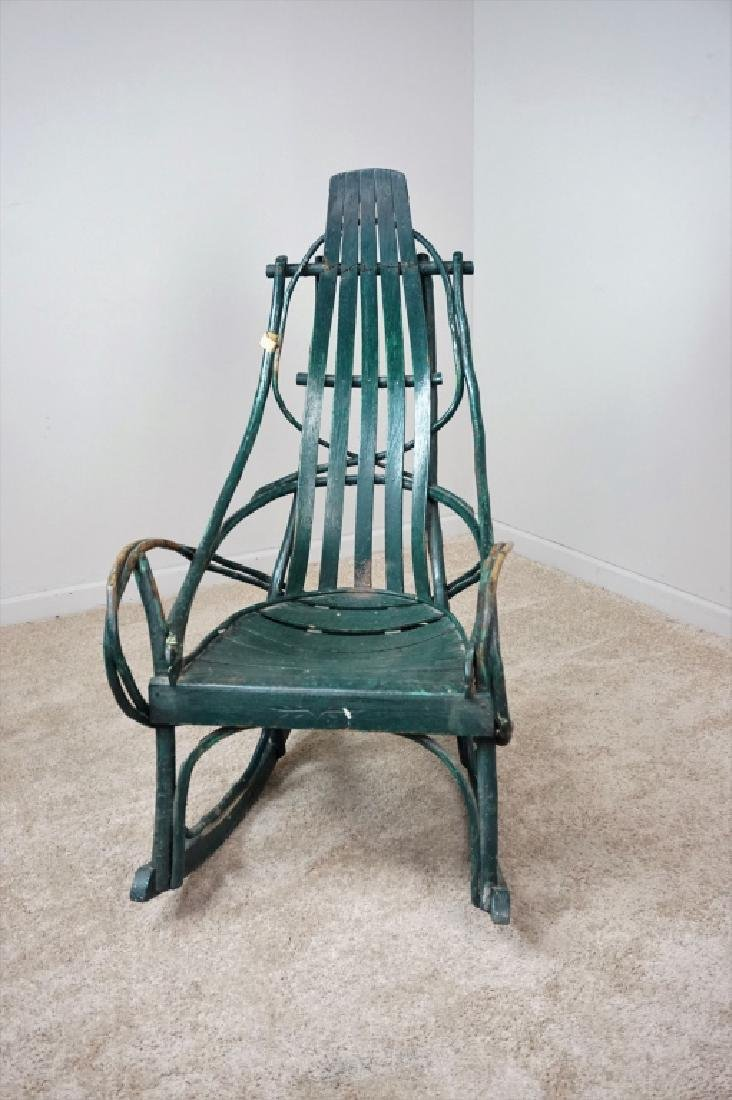 VINTAGE HICKORY BENTWOOD ROCKING CHAIR