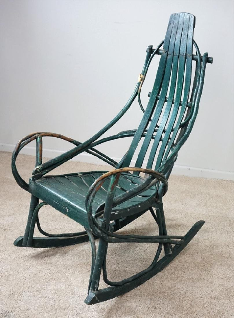 VINTAGE HICKORY BENTWOOD ROCKING CHAIR - 3