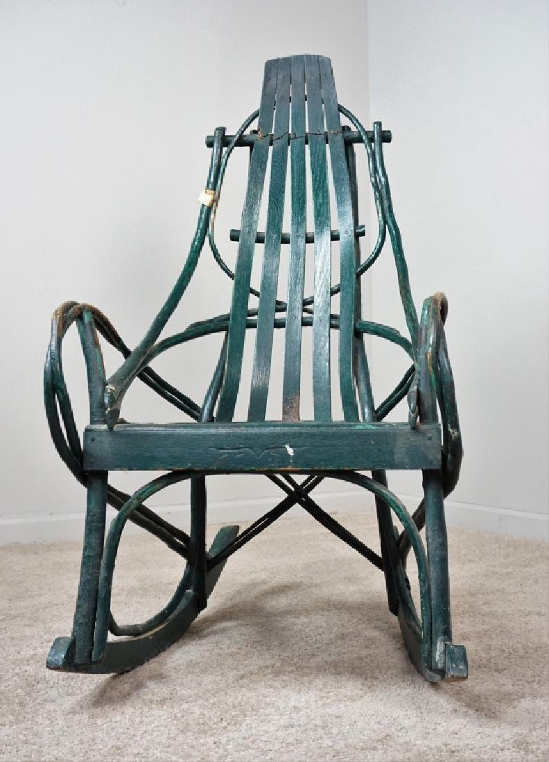 VINTAGE HICKORY BENTWOOD ROCKING CHAIR - 4