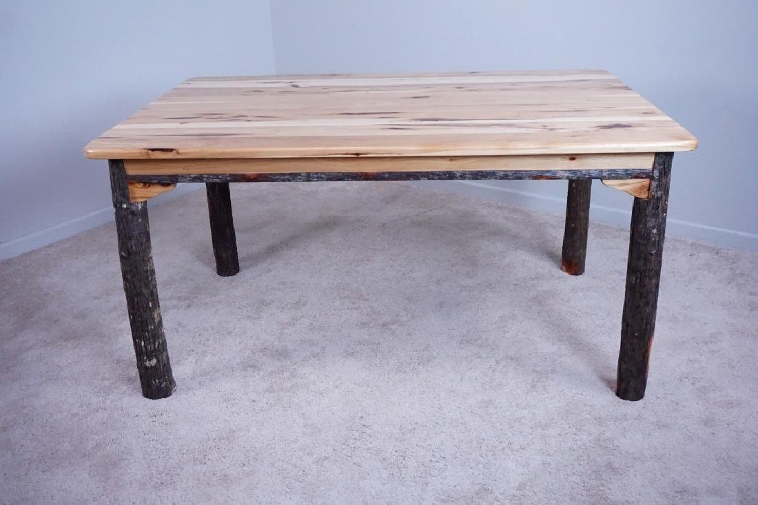 AMISH MADE HICKORY DINING ROOM TABLE