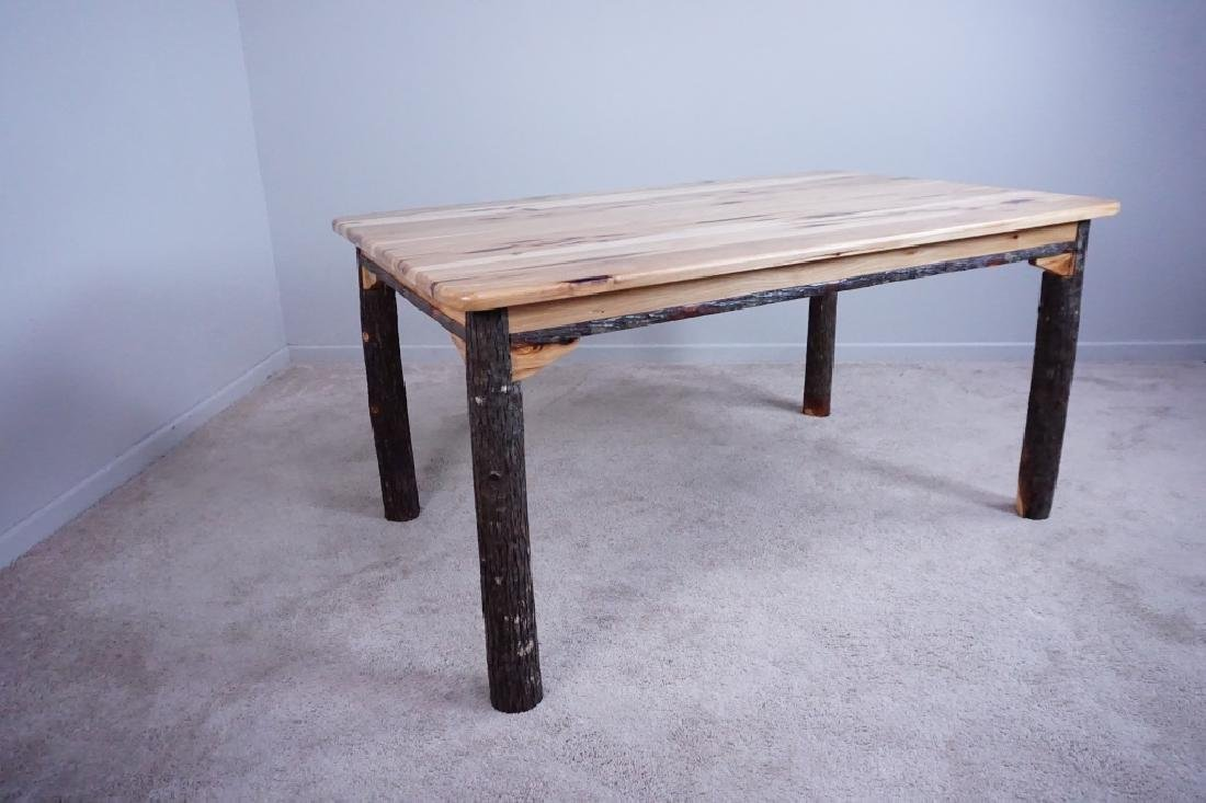 AMISH MADE HICKORY DINING ROOM TABLE - 2