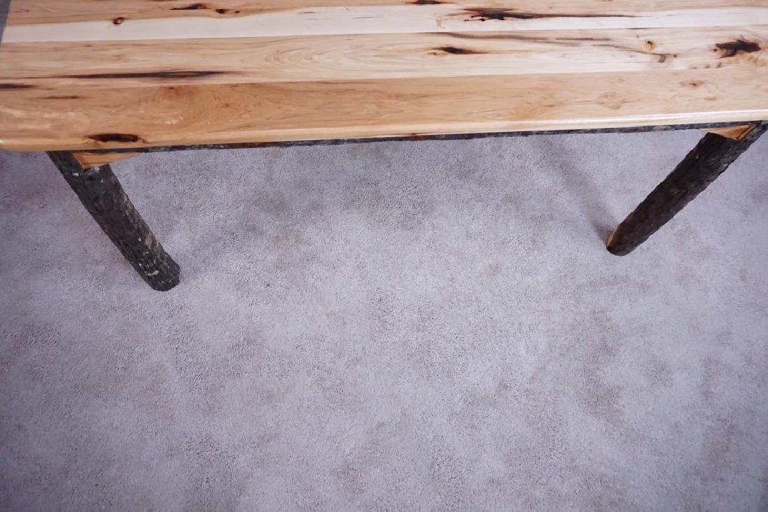 AMISH MADE HICKORY DINING ROOM TABLE - 3