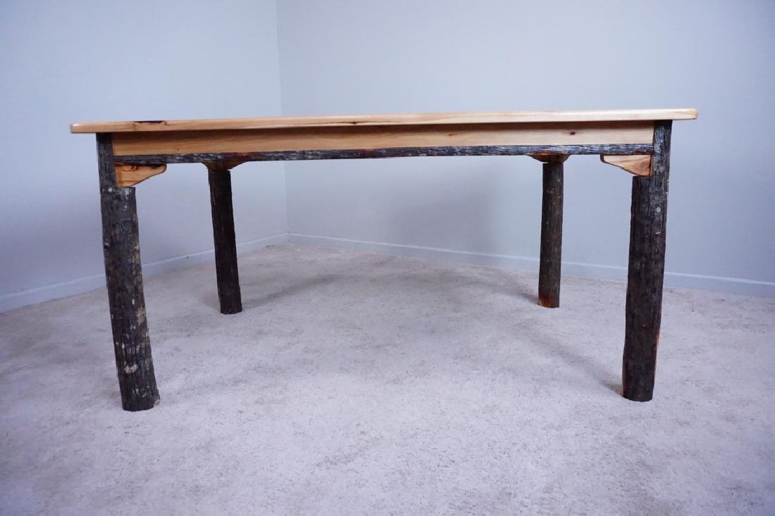 AMISH MADE HICKORY DINING ROOM TABLE - 6