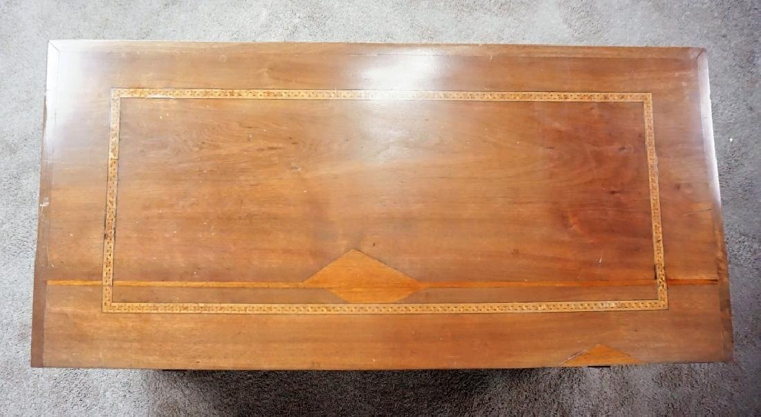 ANTIQUE INLAY BLANKET BOX - 6