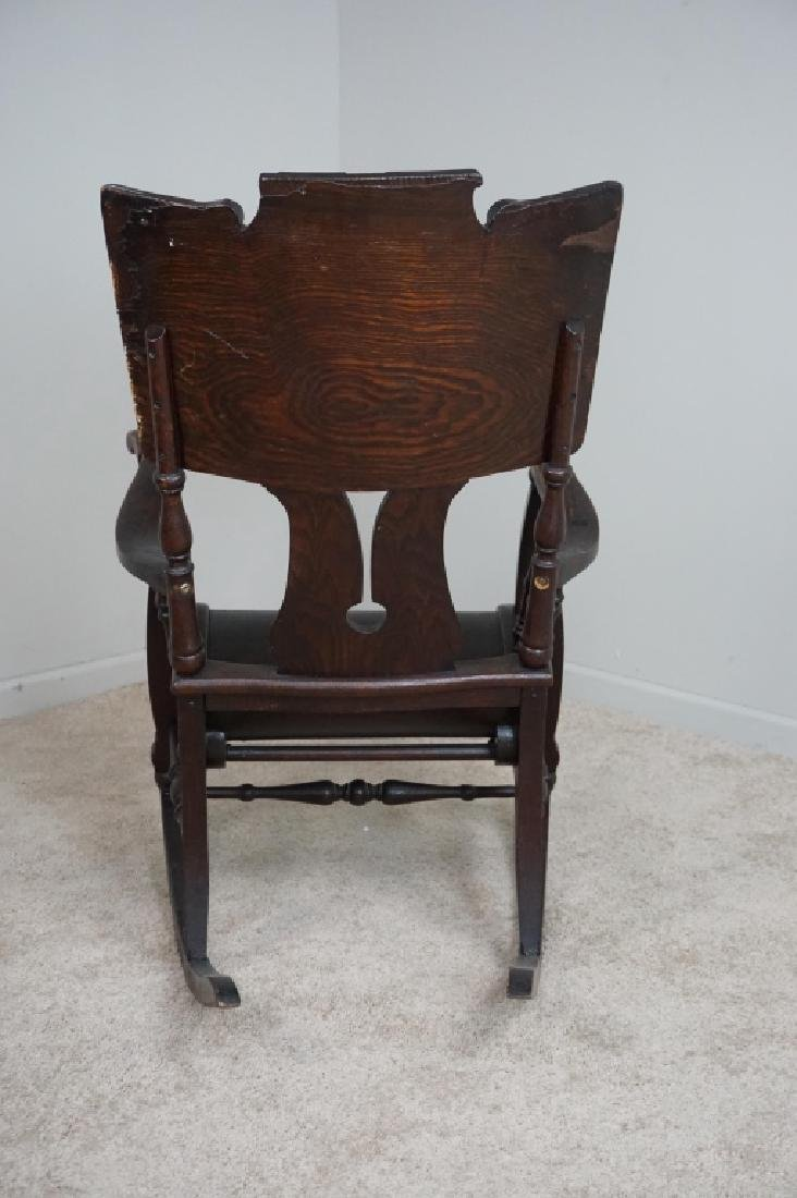 ANTIQUE OAK ROCKING CHAIR - 3