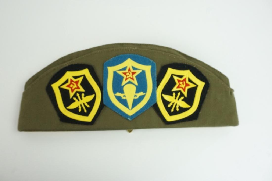 SOVIET GARRISON CAP WITH PINS & PATCHES - 2