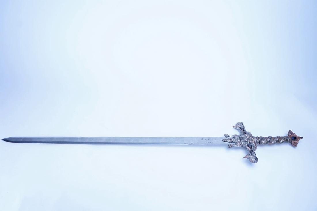 MEDIEVAL DECORATIVE CRUCIFORM SWORD