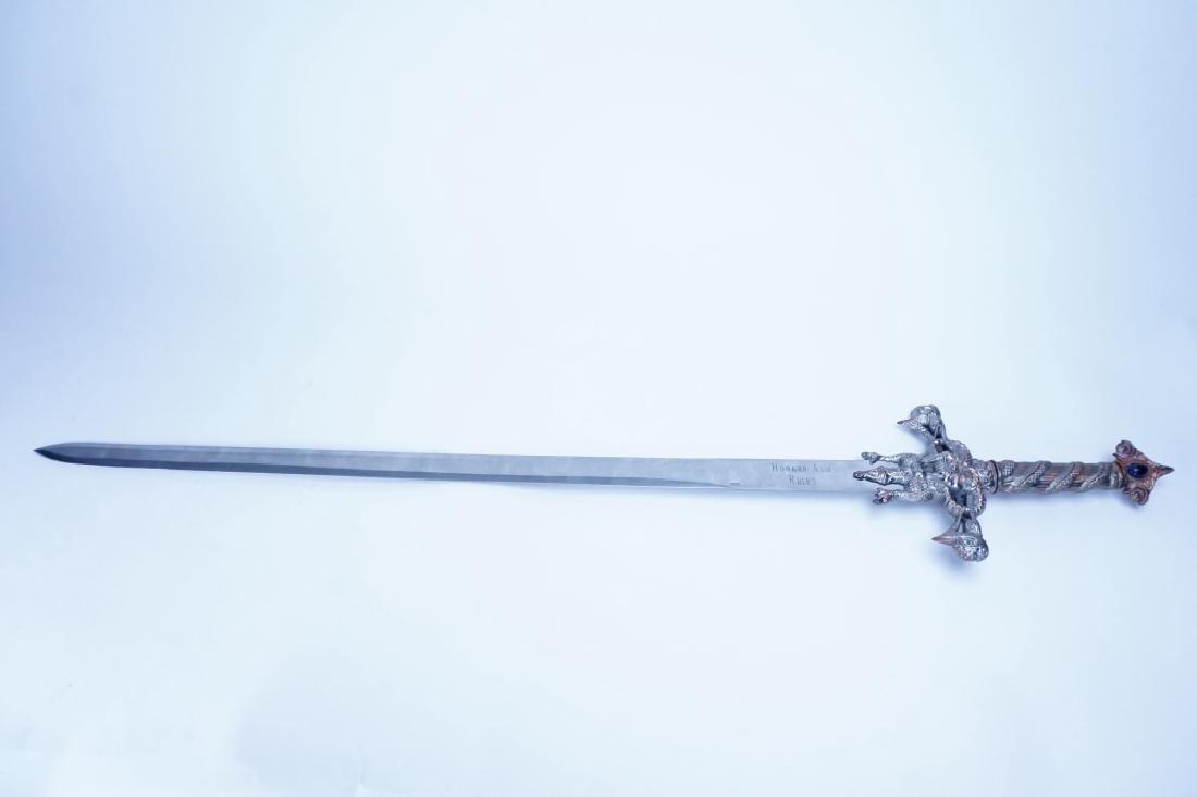 MEDIEVAL DECORATIVE CRUCIFORM SWORD - 2
