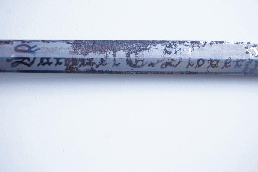 ANTIQUE 19TH C MOMENTO MORI KNIGHTS TEMPLAR SWORD - 5