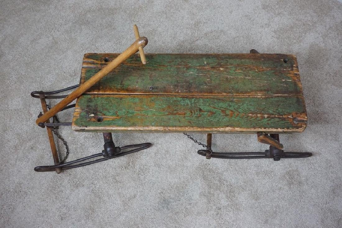 EARLY PRIMITIVE ANTIQUE SLED - 2