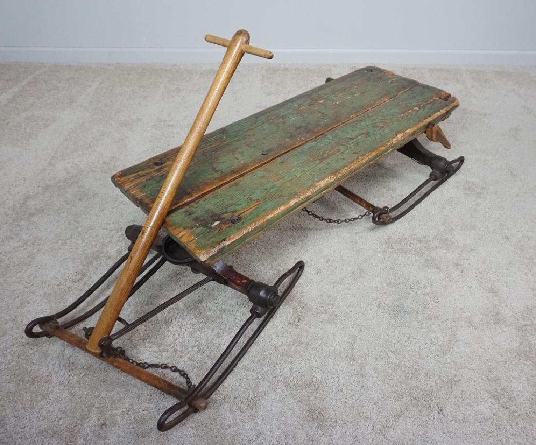 EARLY PRIMITIVE ANTIQUE SLED - 3