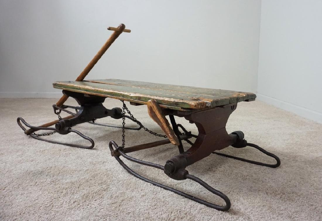 EARLY PRIMITIVE ANTIQUE SLED - 4