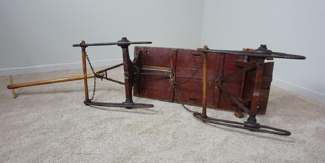 EARLY PRIMITIVE ANTIQUE SLED - 6