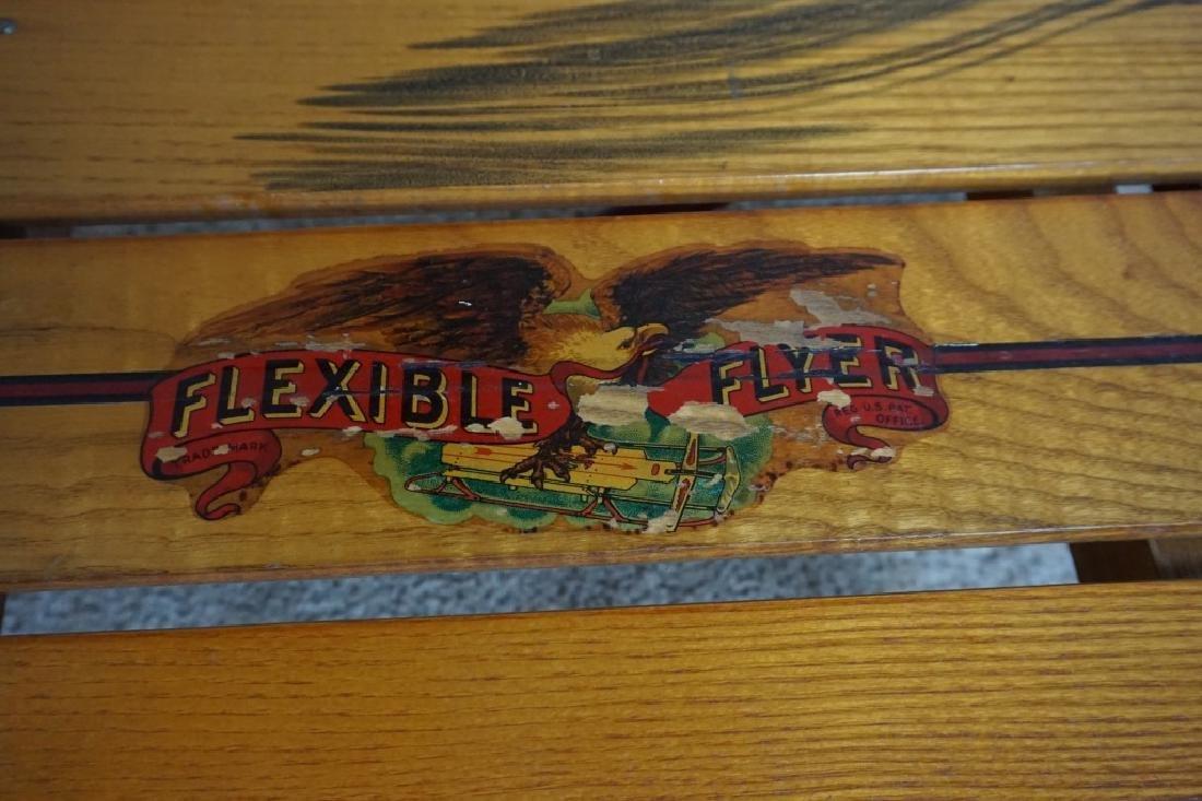SL ALLEN FLEXIBLE FLYER SLED No 55H AIRLINE CHIEF - 3