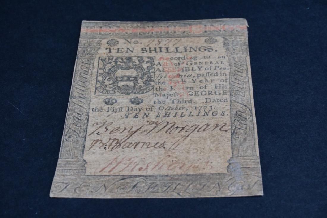 OCTOBER 1 1773 TEN SHILLINGS PENNSYLVANIA - 2