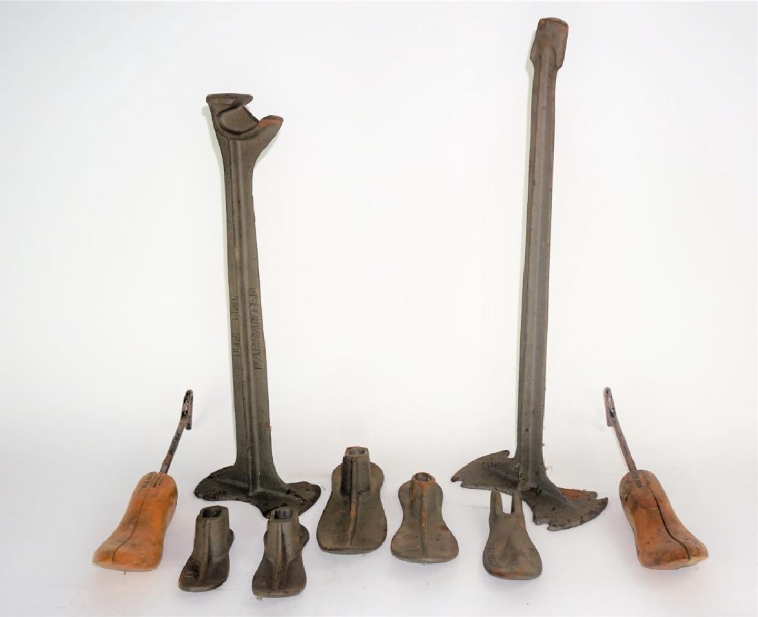 (3) CAST IRON COBBLER'S TOOLS