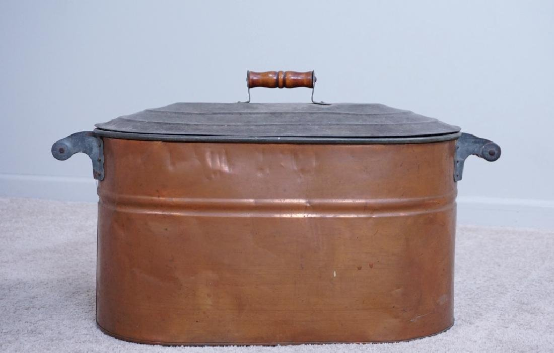 TIN LINED COPPER BOILER WITH LID