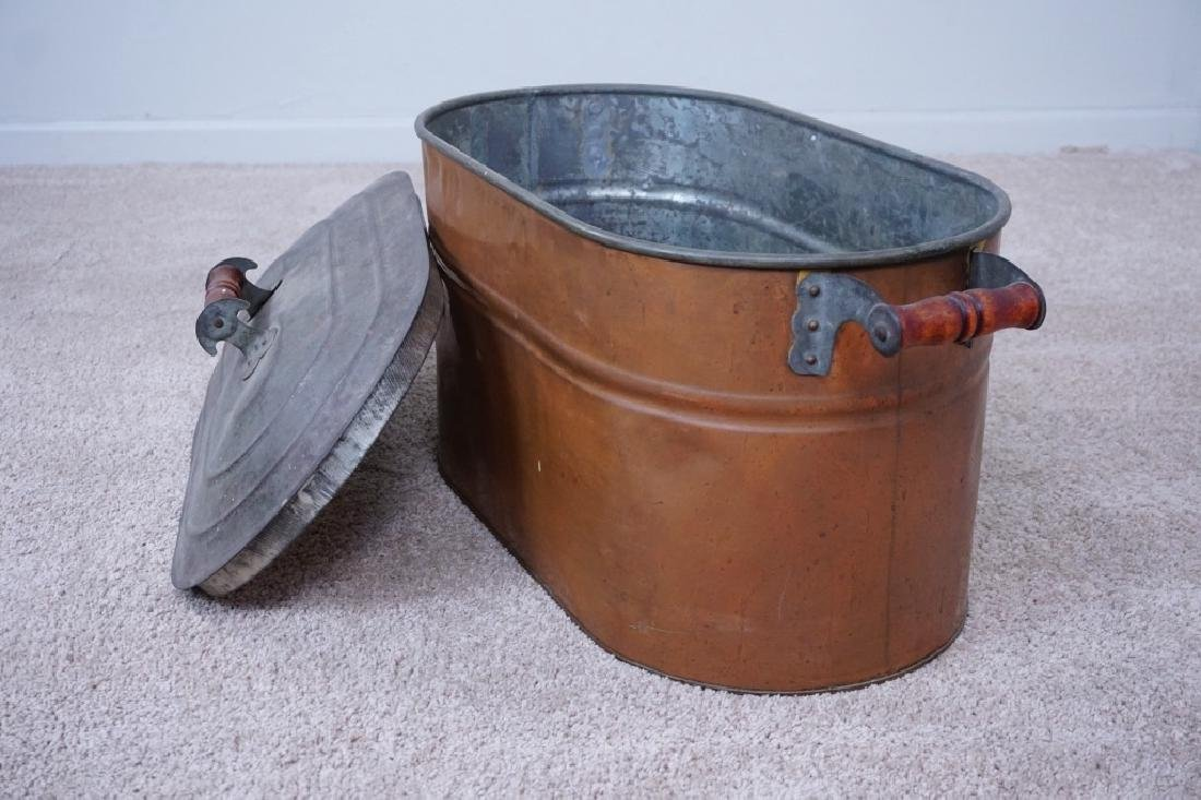 TIN LINED COPPER BOILER WITH LID - 4