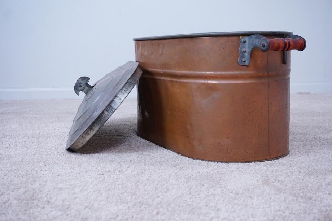 TIN LINED COPPER BOILER WITH LID - 5