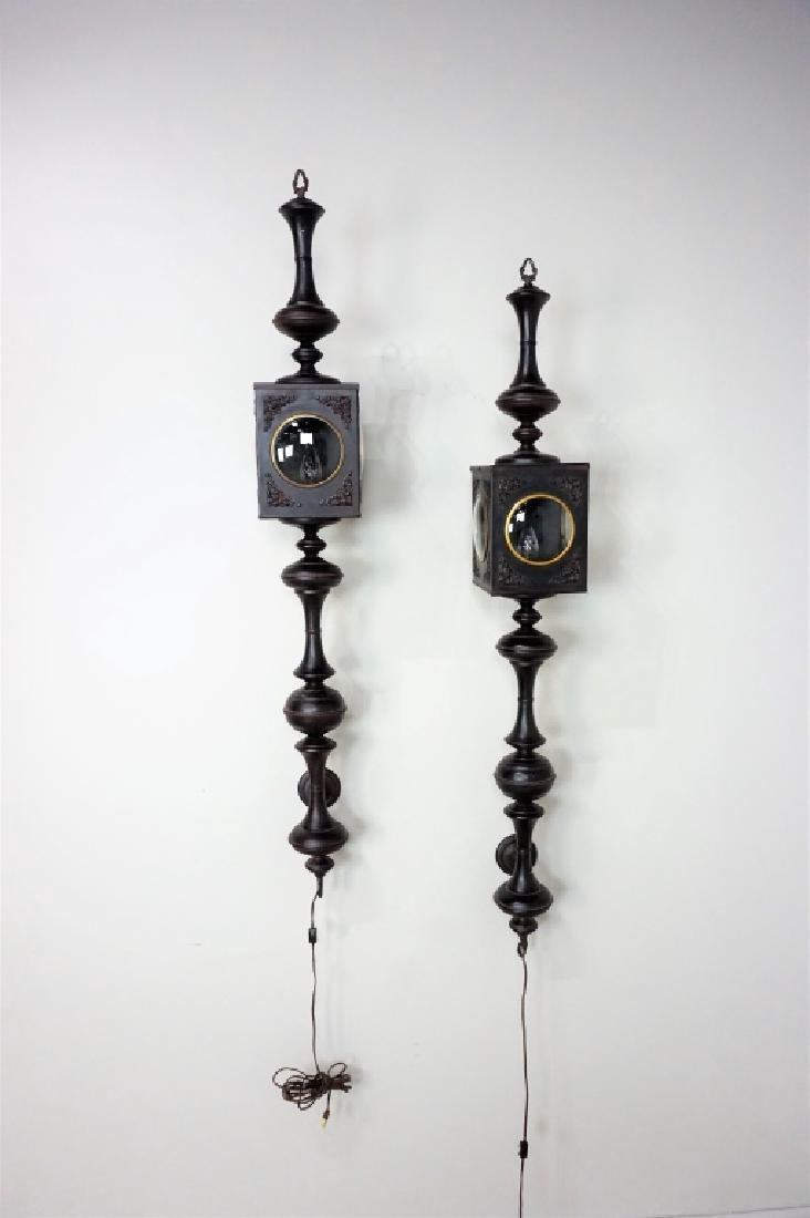 PAIR OF ELECTRIC CARRIAGE LAMPS - 3
