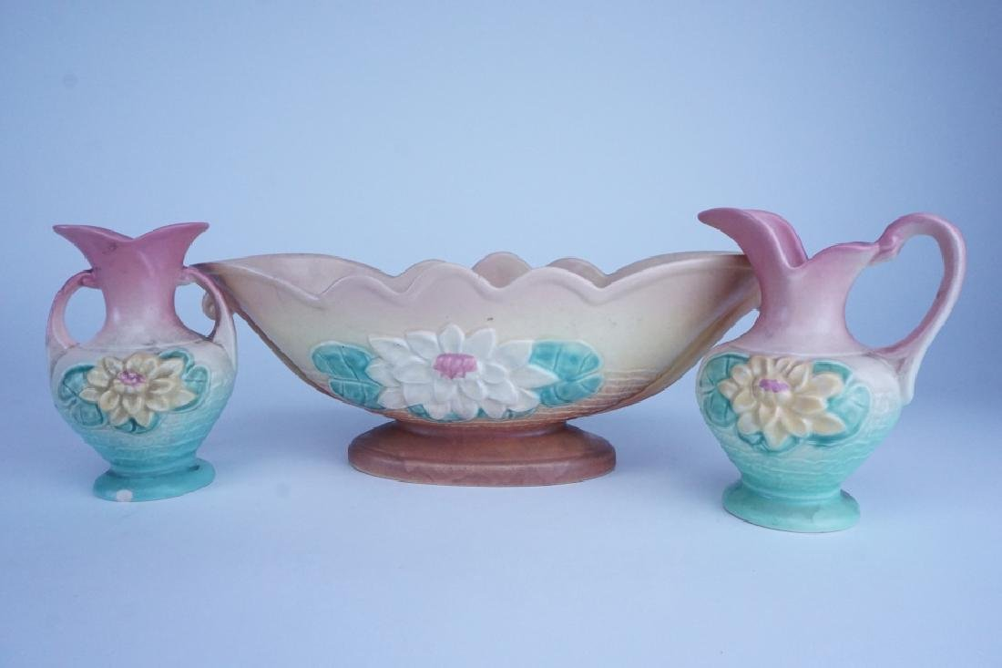 3pc HULL POTTERY WATER LILY SET - 3