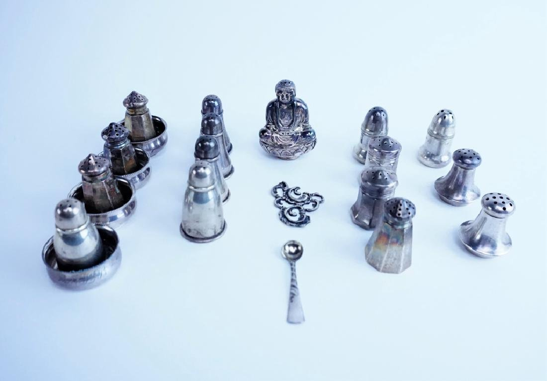22pcs STERLING SILVER SALT & PEPPERS